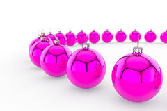 Pink Bauble Circle royalty free stock images
