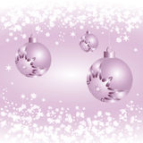 Pink bauble and snowflake Royalty Free Stock Images