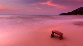 Pink Beach stock image
