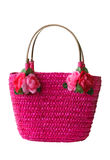 Pink beach bag Stock Image