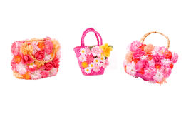 Pink beach bags Royalty Free Stock Photos