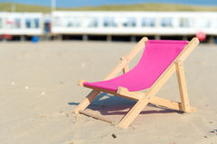 Pink beach chair Stock Image