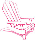 Pink Beach chair Stock Photos