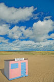 The pink beach hut Royalty Free Stock Photos