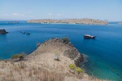 Pink Beach, Komodo Islands. Boat trip to labuan Bajo, Indonesia Stock Photos