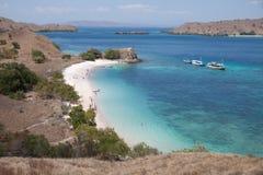 Pink Beach, Komodo Islands. Boat trip to labuan Bajo, Indonesia Stock Image