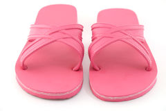 Pink beach sandals flip flops isolated Stock Photography