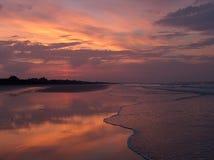 Pink Beach Sunrise Stock Photo