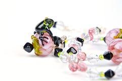 Pink bead Handmade Stock Images