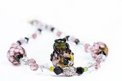 Pink bead Handmade Stock Photo