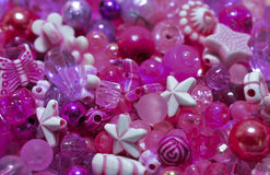 Pink bead mix. Background of pink bead mix Stock Images