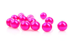 Pink beads Royalty Free Stock Image