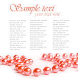 Pink beads Royalty Free Stock Photo