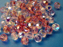 Pink beads stock images