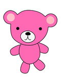 Pink bear cartoon Royalty Free Stock Image