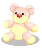 Pink bear of cloth Royalty Free Stock Photography