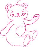 This is pink bear-cub Royalty Free Stock Photos