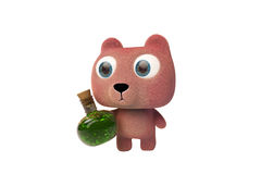 Pink bear and magic potion Stock Photography