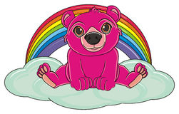 Pink bear and sky Stock Photo
