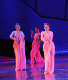 Pink beautifuls woman-The dance drama The legend of the Condor Heroes. In December 2, 2014, a large Chinese dance drama the legend of the Condor Heroes for the Royalty Free Stock Images