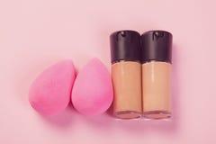 Pink beauty blenders Stock Image