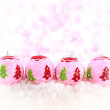Pink beauty Christmas background Royalty Free Stock Images