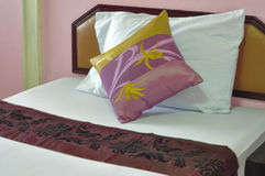 Pink bed room Stock Photography