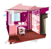 Pink bedroom Royalty Free Stock Photography