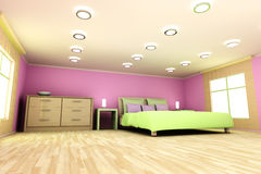 Pink Bedroom Royalty Free Stock Image