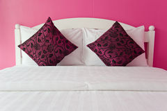 Pink Bedroom in a modern house Stock Photos