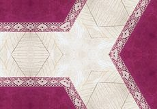 Pink and beige paper with lace Stock Images