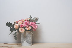 Pink and beige roses Stock Photography