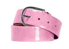 Pink belt isolated on white background Stock Image