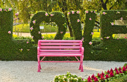 Pink bench. Stock Images