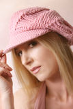 Pink beret Royalty Free Stock Photos