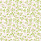 Pink berries seamless pattern. Pink berries seamless vector pattern Royalty Free Stock Photo