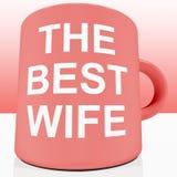 Pink Best Wife Mug. Showing Loving Partener Royalty Free Stock Photos