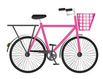Pink bicycle Stock Image