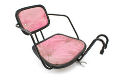 Pink bicycle chair for baby Royalty Free Stock Images