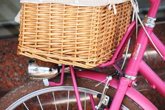 The pink bicycle Royalty Free Stock Photography