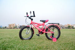 Pink Bicycle. Bicycle in Park 7th May 2017 Lahore-Pakistan Royalty Free Stock Photo