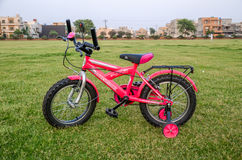 Pink Bicycle. Bicycle in Park 7th May 2017 Lahore-Pakistan Stock Images