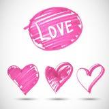 Pink big heart shape Stock Photo