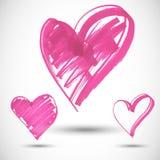 Pink big heart shape Stock Image