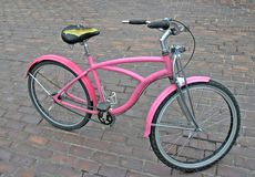 Pink bike. Cool pink bike Royalty Free Stock Photography