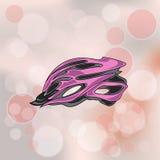 Pink Bike Helmet Royalty Free Stock Photos