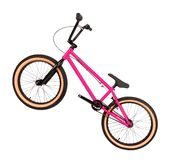 Pink bike isolated on white. Background stock image