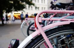 Pink bike Stock Photography