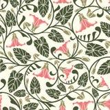 Pink bindweed. In one pattern Royalty Free Stock Image