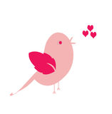 Pink bird sings Royalty Free Stock Images